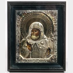 Framed Icon of a Saint