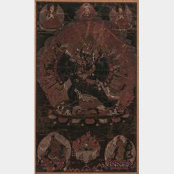 Thangka Depicting Vajrabhairava