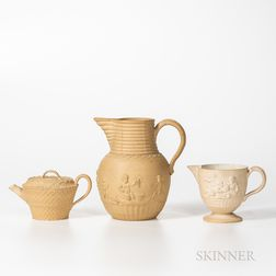 Three Wedgwood Caneware Items