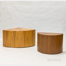 Two Frank Robinson-designed Teak Veneer Side Tables