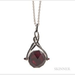 """18kt Gold, Garnet, and Black Sapphire """"Rocks Off"""" Pendant Necklace, Stephen Webster"""