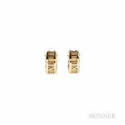 """Tiffany & Co. 18kt Gold """"Atlas"""" Earrings"""