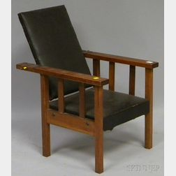 Mission Oak Childs Morris Chair.