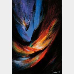 Leonardo M. Nierman (Mexican, b. 1932)      Cosmic Fury