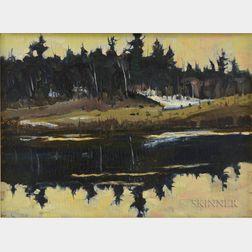 Christopher Huntington (American, b. 1938)      Evening-East Branch