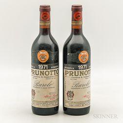 Prunotto Barolo Riserva 1971, 2 bottles