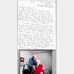 Lee, Harper (1926-2016) Autograph Letter Signed and Photograph, 8 August 2006.