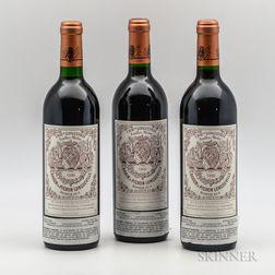 Chateau Pichon Baron 1990, 3 bottles