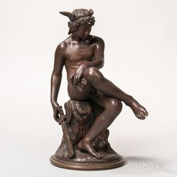 After Marius Montagne (French, 1828-1879)    Bronze Figure of Hermes