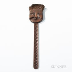 Folk Art Carved Broom