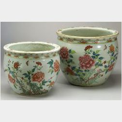 Two Porcelain Jardinieres