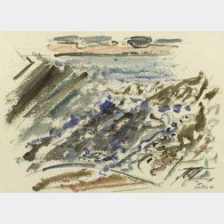 John Marin (American, 1870-1953)  Movement - Wave on Beach