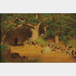 Alexander Helwig Wyant (American, 1836-1892)      A Solitary Horseman
