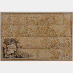 Massachusetts. Osgood Carleton (1741-1816) Map of Massachusetts Compiled from Actual Surveys