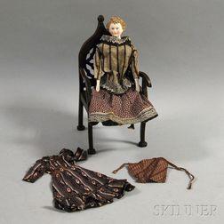 Parian Shoulder Head Doll