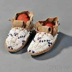 Pair of Cheyenne Infant's Moccasins