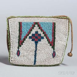 Blackfeet Beaded Hide Belt Pouch