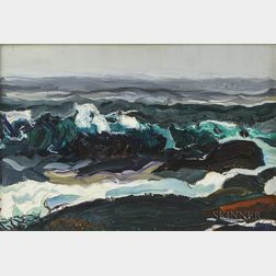 Christopher Huntington (American, b. 1938)      Breaking Waves