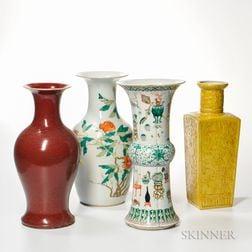 Four Ceramic Vases