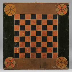 Polychrome Paint-decorated Checkerboard