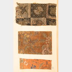 Book of Rare Ming-period Textile and Paper Fragments