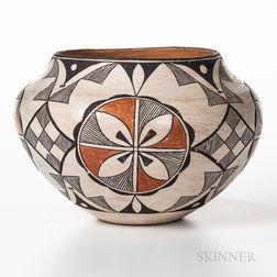 Large Acoma Polychrome Pottery Jar