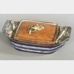 Wedgwood Majolica Sardine Box and Cover
