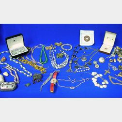 Group of Mostly 20th Century Costume Jewelry and Assorted Items