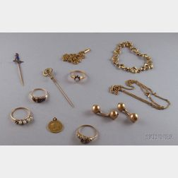 Group of Gold and Gold-filled Estate Jewelry