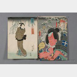Ten Japanese Woodblock Prints