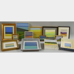 John Mulcahy (American, b. 1931)      Nineteen Abstract Landscapes