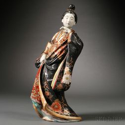 Porcelain Figure of a Geisha