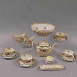 Assorted Dresden Porcelain Tea Service