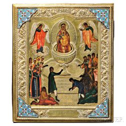 Russian Icon Depicting the Mother of God the Life-giving Spring