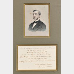 Holmes, Oliver Wendell, Senior (1809-1894) Signed Poetry Transcription, 5 April 1890.