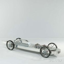 Sculptural Race Car Model
