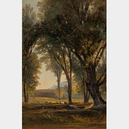 Benjamin Champney (American, 1817-1907)      Wooded Pasture