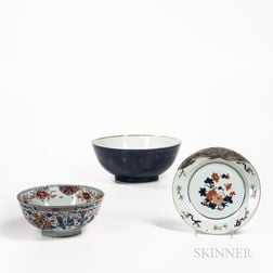 Three Large Export Porcelain Bowls