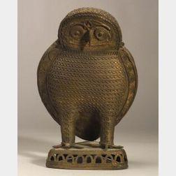 Bronze Sculpture of an Owl