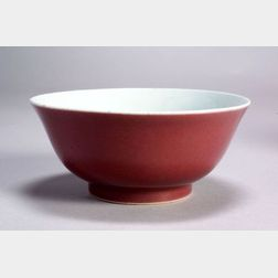 Copper Red Bowl