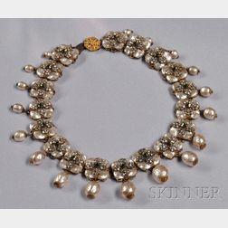 Rare Prototype Necklace, Miriam Haskell