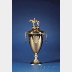 1947 Kentucky Derby Gold Winner's Trophy and Commemorative Mint Julep Cup