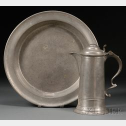 Pewter Flagon and Charger