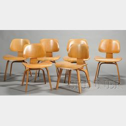 Six Eames DCW Chairs