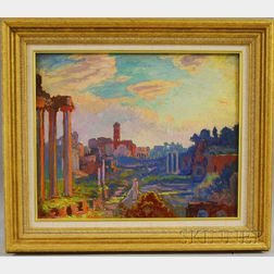 Attributed to William Samuel Horton (American/French, 1865-1936)      The Roman Forum