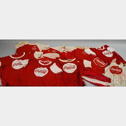 Eleven Pieces of Coca-Cola Team Athletic Wear