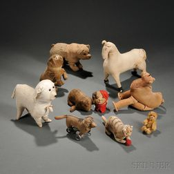 Ten Stuffed Animal Toys