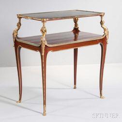 Napoleon III Mahogany and Gilt-bronze Tea Table