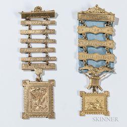 Two Civil War Union Prisoner Association Medals