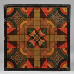 Polychrome Paint-decorated Double-sided Game Board